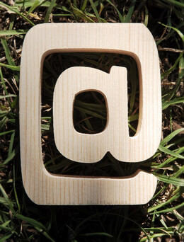 Wood @ Sign - 4 inch and 3/4 Thick Pine