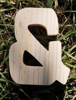 Ampersand Wood Sign 4in