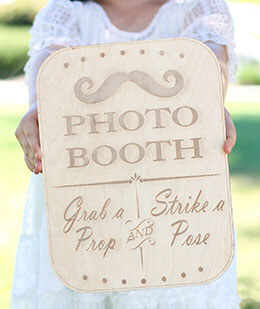 Wood Sign Photo Booth Rustic