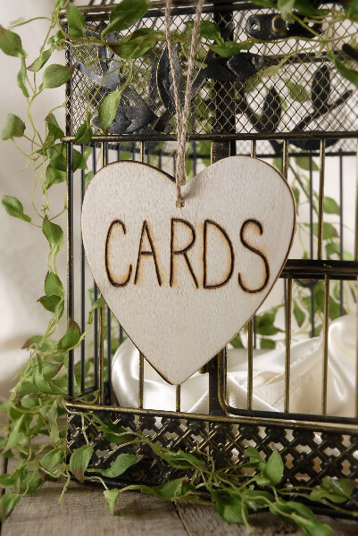 "Handmade Wood ""CARDS"" Sign 4.5"""