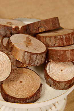 "Wood Round Slice  1.25"" - 2.25""  x  .5"" thick (10-12 pcs)"