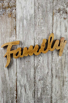 Wood Wall Sign Family