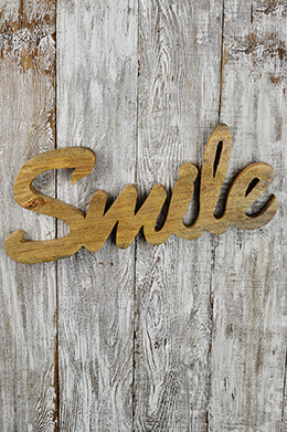 Wood Wall Sign Smile