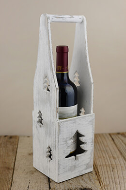 Wood Wine Caddy 4.25x14.5in