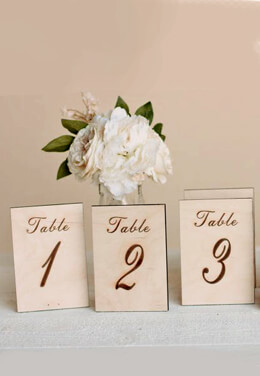 Wood Table Numbers (1-5)
