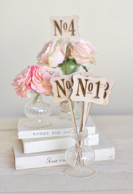 Rustic Wood Table Numbers(1 thru 5) Vintage Inspired Wedding