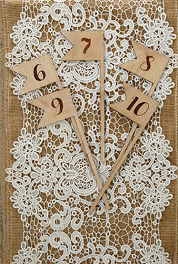 Wooden Table Numbers Swallow Tail 6-10