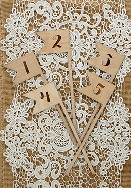 Wooden Table Numbers Swallow Tail 1-5