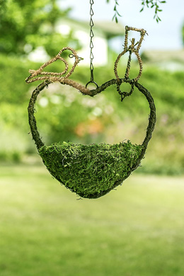 Woven Hanging Basket & Bird Feeder