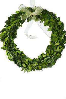 "Boxwood Wreath Natural 10"" Round Preserved Boxwood"