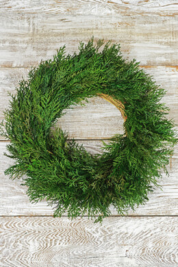 "Preserved Cypress Wreath 17"" Fragrant"