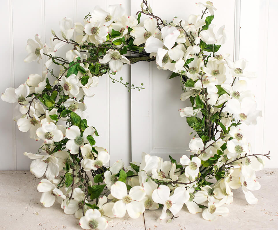 Dogwood & Pussy Willow Grapevine Wreath