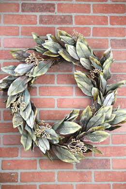 Holiday Magnolia Leaf Wreath 30in