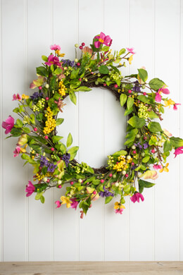 Spring Wildflower Wreath 20in
