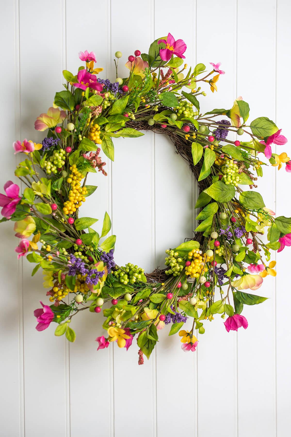Spring Wildflower Wreath 20in