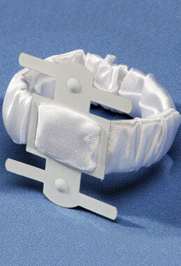 Corsage Holder White Satin