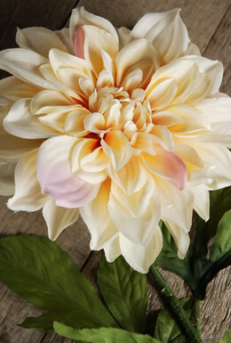 "Yellow and Pink Silk Dahlias (7"" flower)"