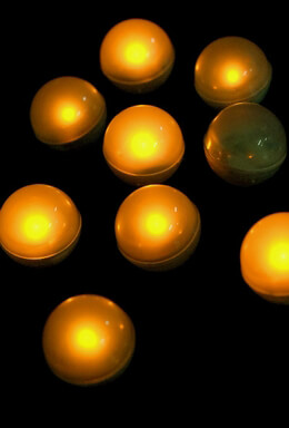 10 Yellow Fairy Berries Magical LED Light, 0.75""