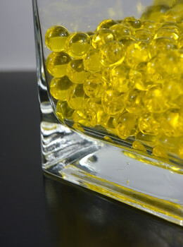 Yellow Jumbo Water Pearls (water holding vase gems)