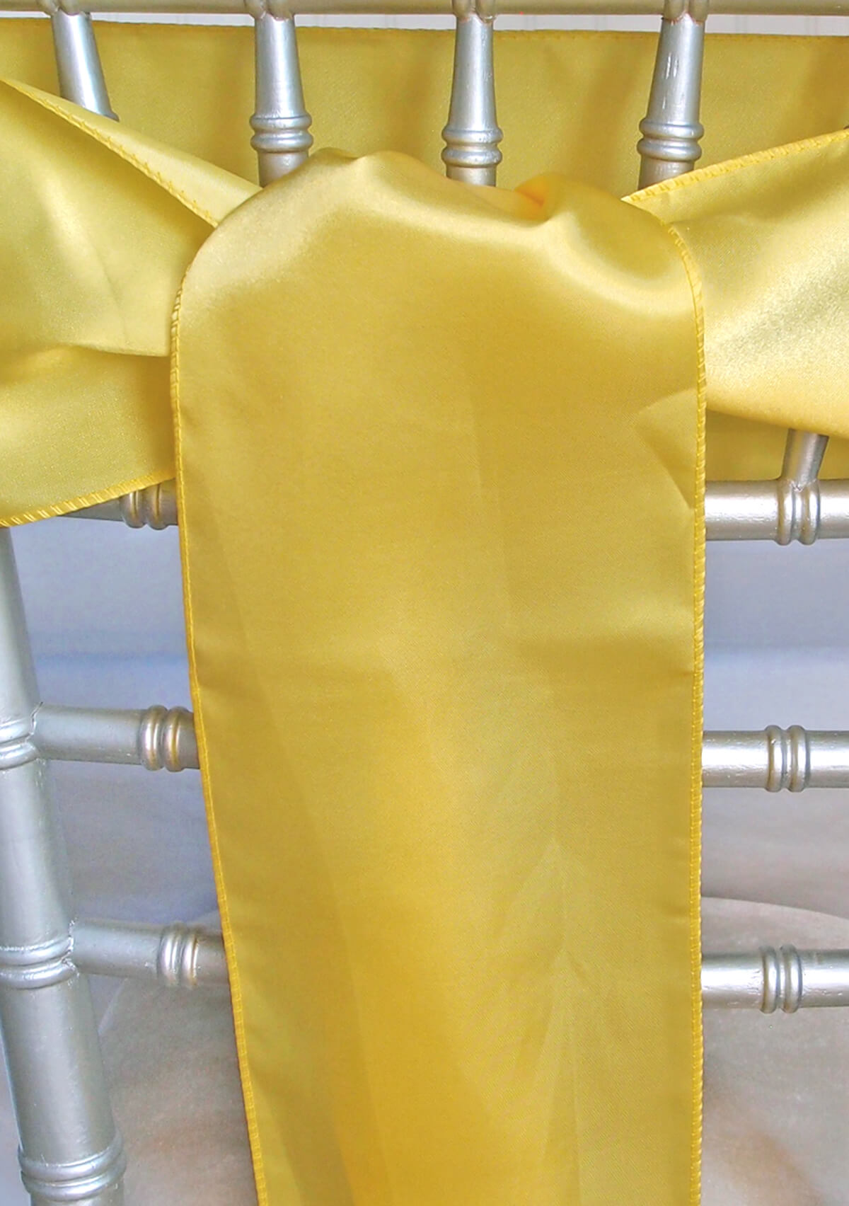 10 Yellow Satin Chair Sashes 6x108