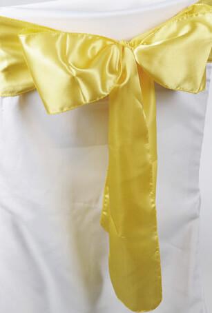 1- Yellow Satin Chair Sashes 6x108