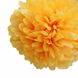 Tissue Paper Pom Poms Yellow 20in | Pack of 4