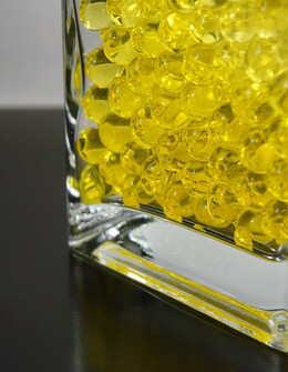 Yellow Water Pearls (water holding vase gems)