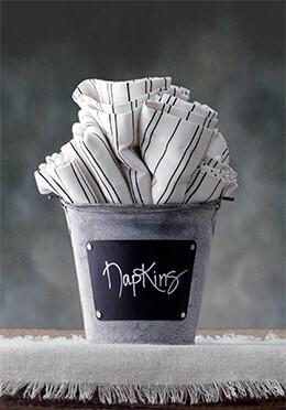 Zinc Bucket with Chalkboard Label 4.5in
