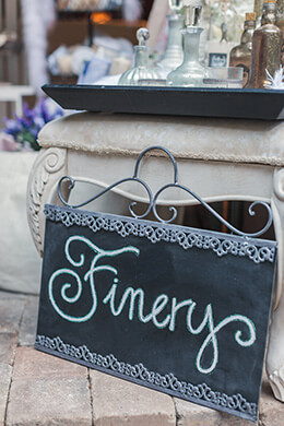 Zinc Framed Decorative Chalkboard