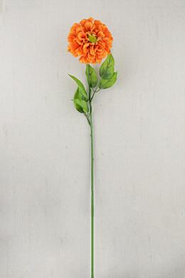 Zinnia Flowers Orange 28in (Pack of 12)