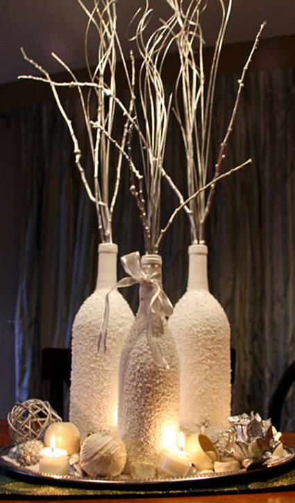 let it snow this recycled diy christmas centerpiece - Diy Christmas Centerpieces