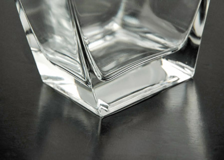 "Sturdy Tapered Rectangle Clear Glass 11-3/4"" Vases"