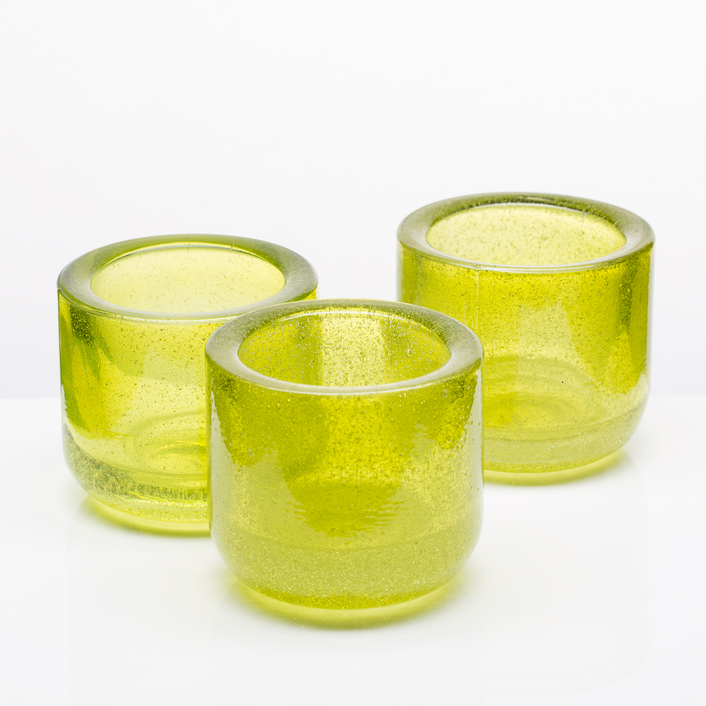 Richland Bubbles Candle Holder Green Set of 6