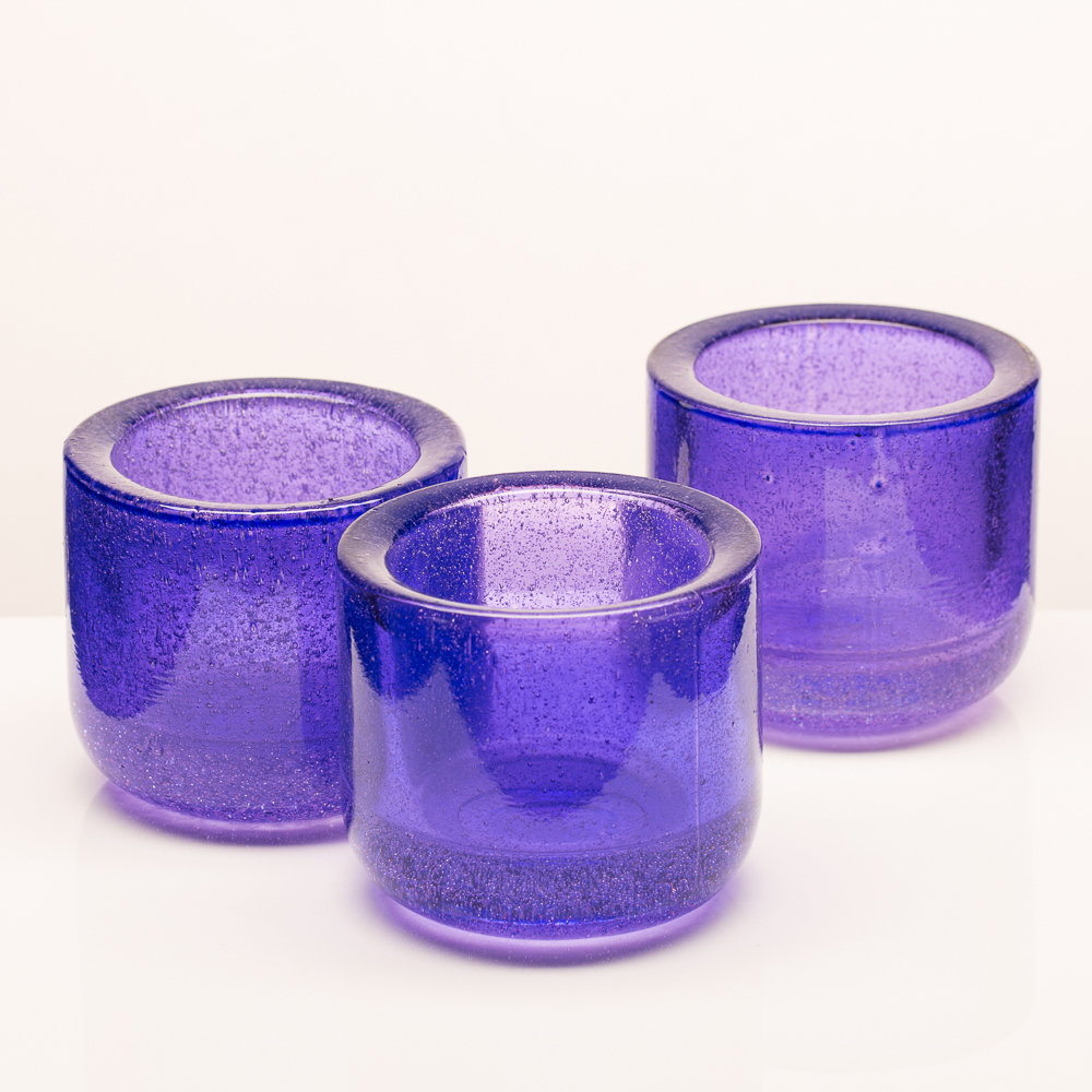 Richland Bubbles Candle Holder Purple Set of 6