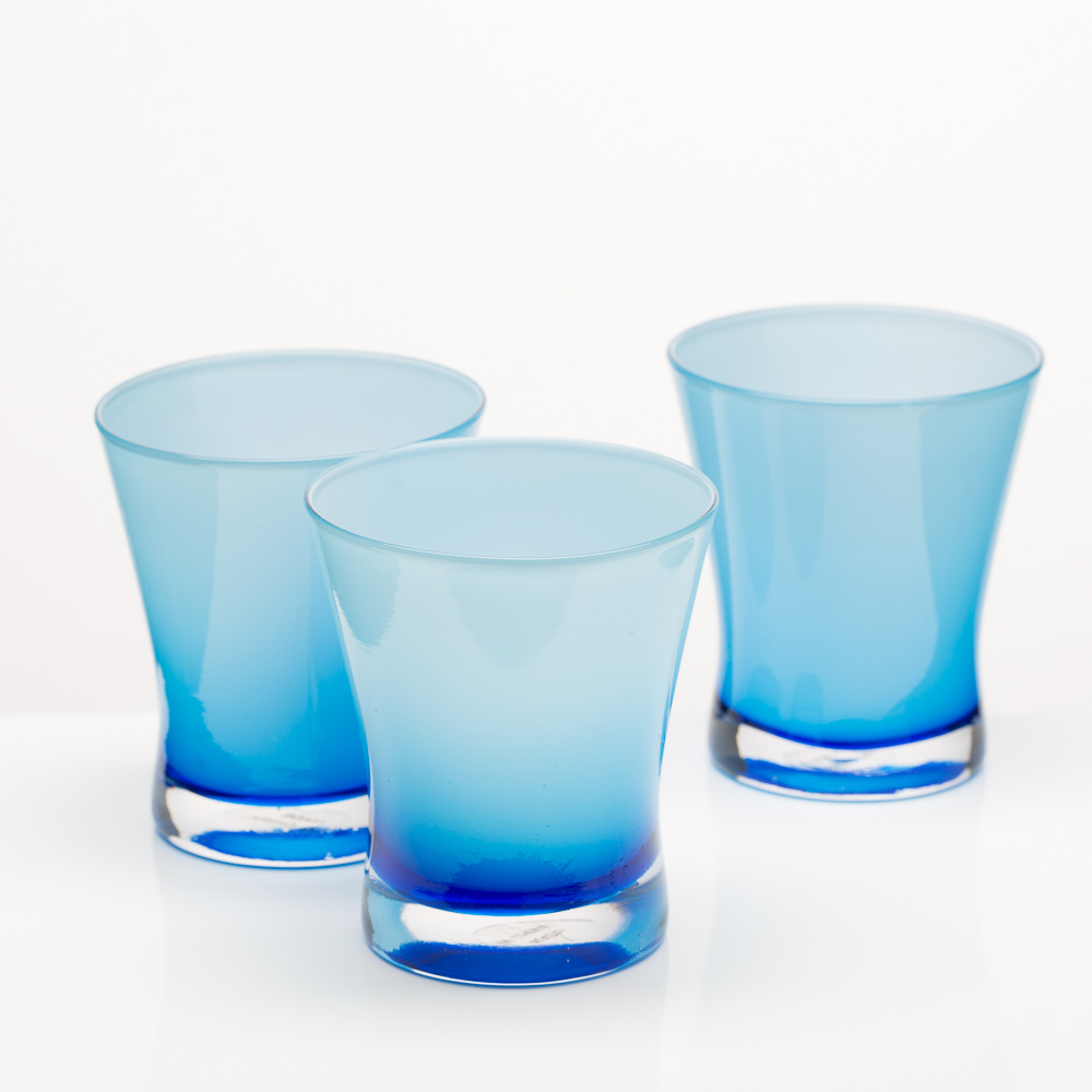 Richland Radiant Candle Holder Blue Set of 6