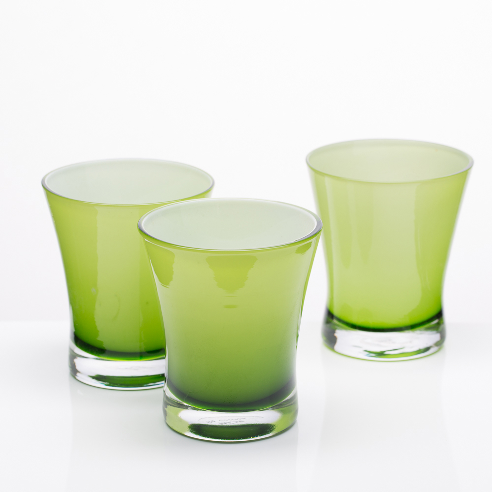 Richland Radiant Candle Holder Green Set of 6