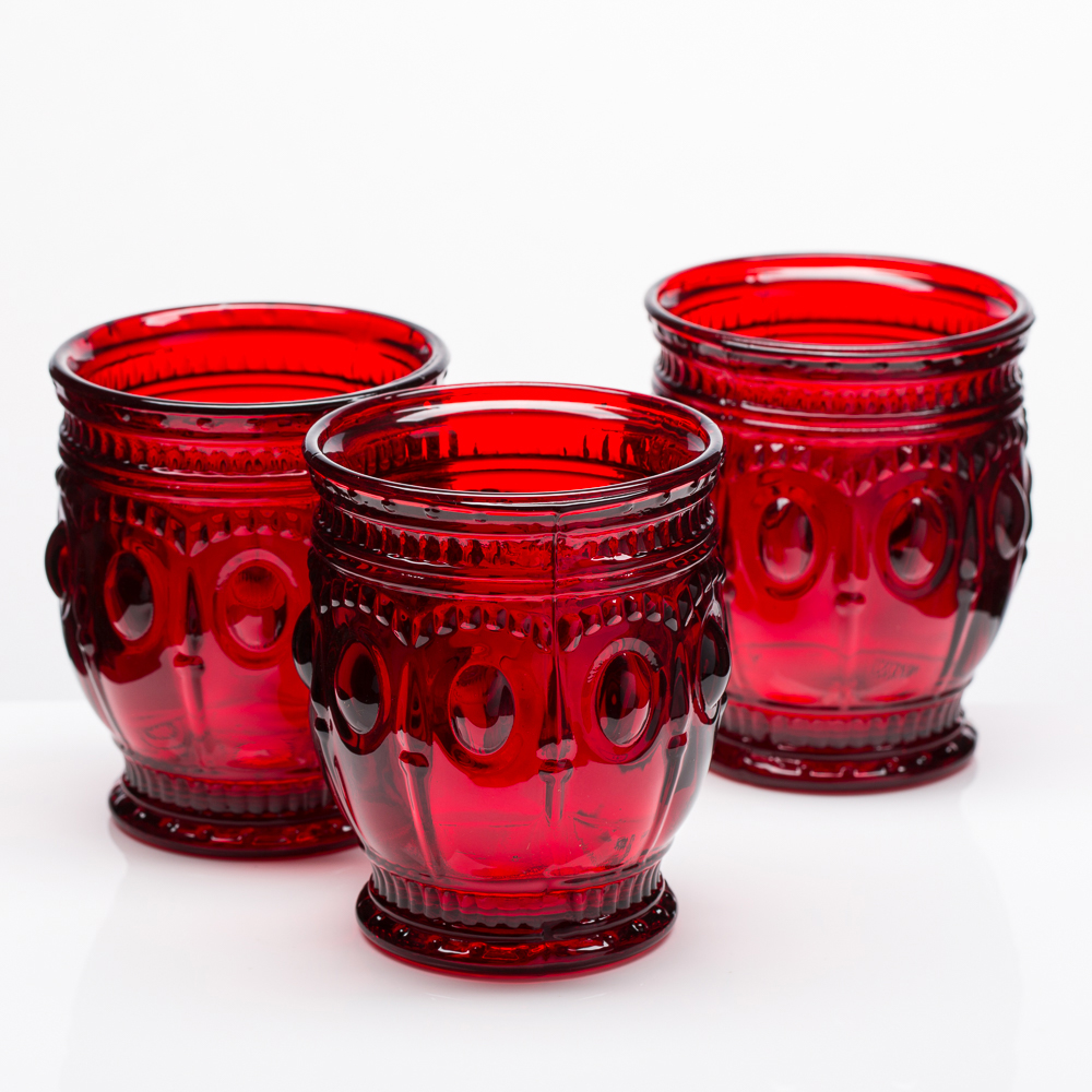 Richland Vintage Charm Candle Holder Red Set of 6
