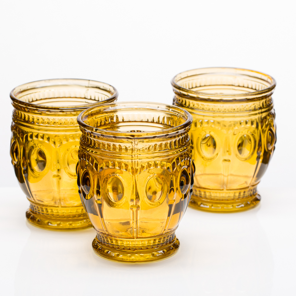Richland Vintage Charm Candle Holder Amber Set of 6