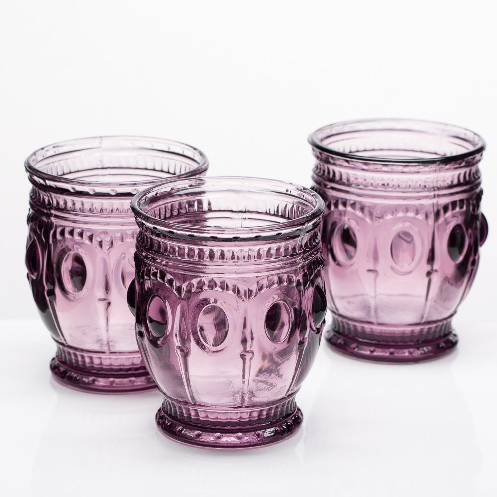 Richland Vintage Charm Candle Holder Purple Set of 6