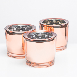 Richland Votive Holder Rose Gold Mirrored Chunky Set of 12