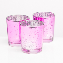 Richland  Pink Mercury Votive Holders  Set of 12