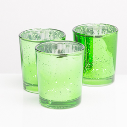 Richland Votive Holder Green Mercury Glass Set of 12