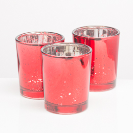 Richland Votive Holder Red Mercury Glass Set of 12