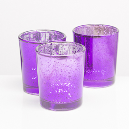 Richland Votive Holder Purple Mercury Glass Set of 12
