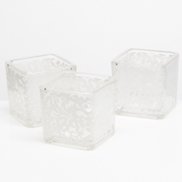 Richland Votive Holder White Lace Design Set of 12