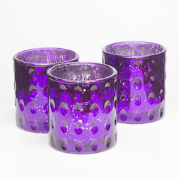 Richland Votive Holder Purple Pinched Glass Set of 6