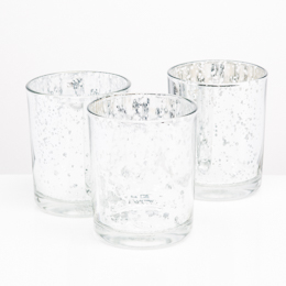 Richland Votive Holder Grande Silver Mercury Glass Set of 12