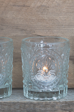 Richland Votive Holder Clear Textured Glass Set of 12