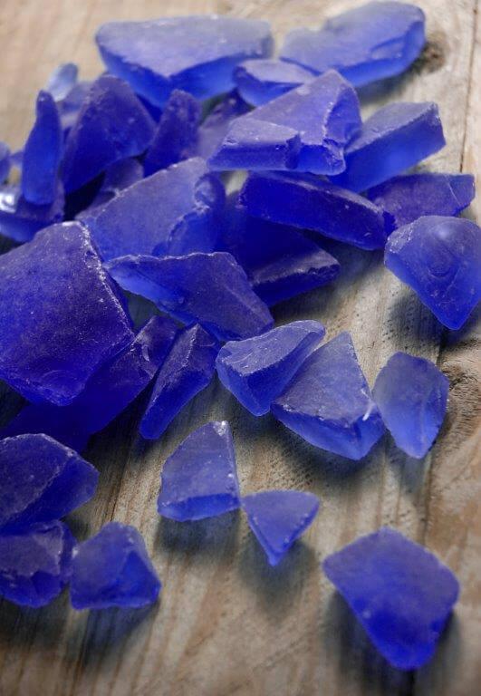 Dark Blue Beach Glass 3 lbs