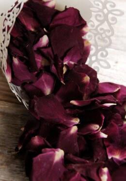 Deep Burgundy Sumptuous Romance Rose Petals 5 Cups